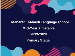 Mid-Year Timetable 2019-2020 ( Elementary Stage )